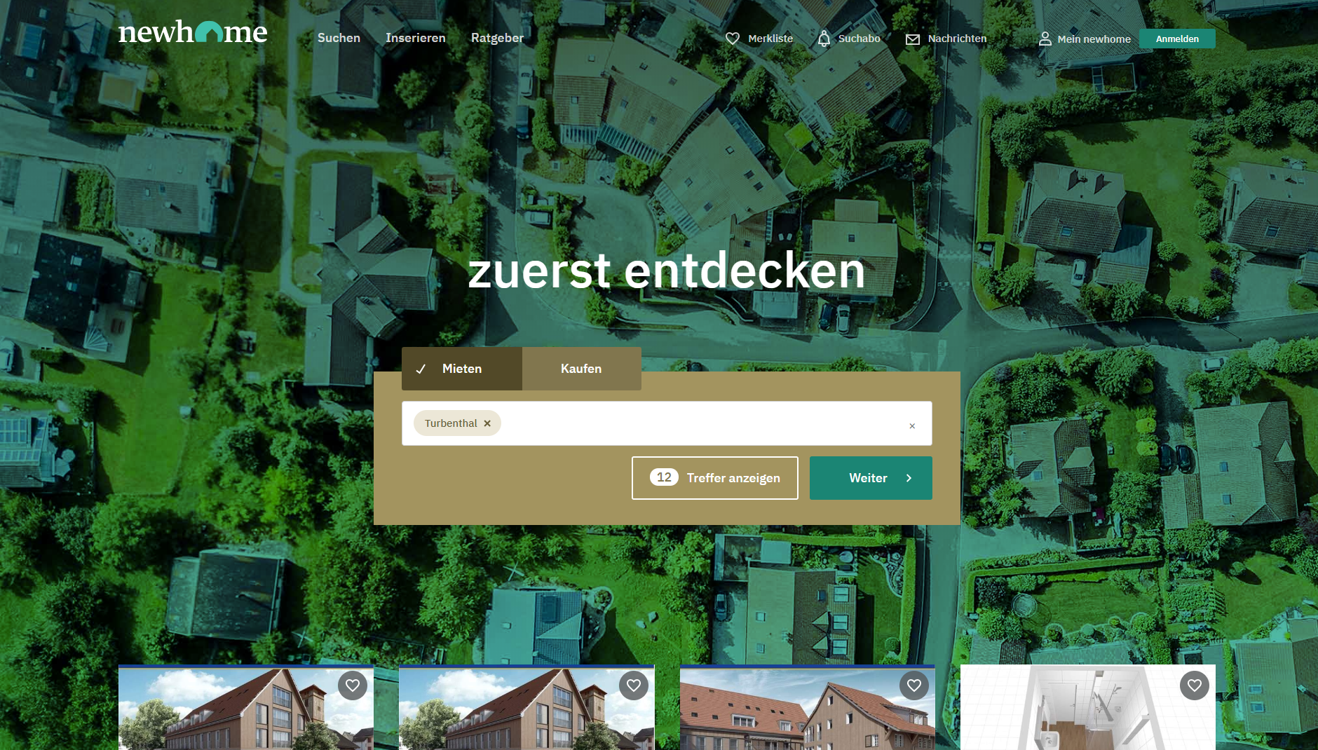Breaking News - neue newhome.ch ist live